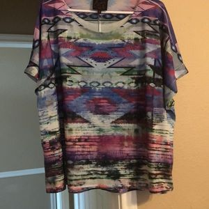 Tops - Southwest style blouse. NEVER WORN.
